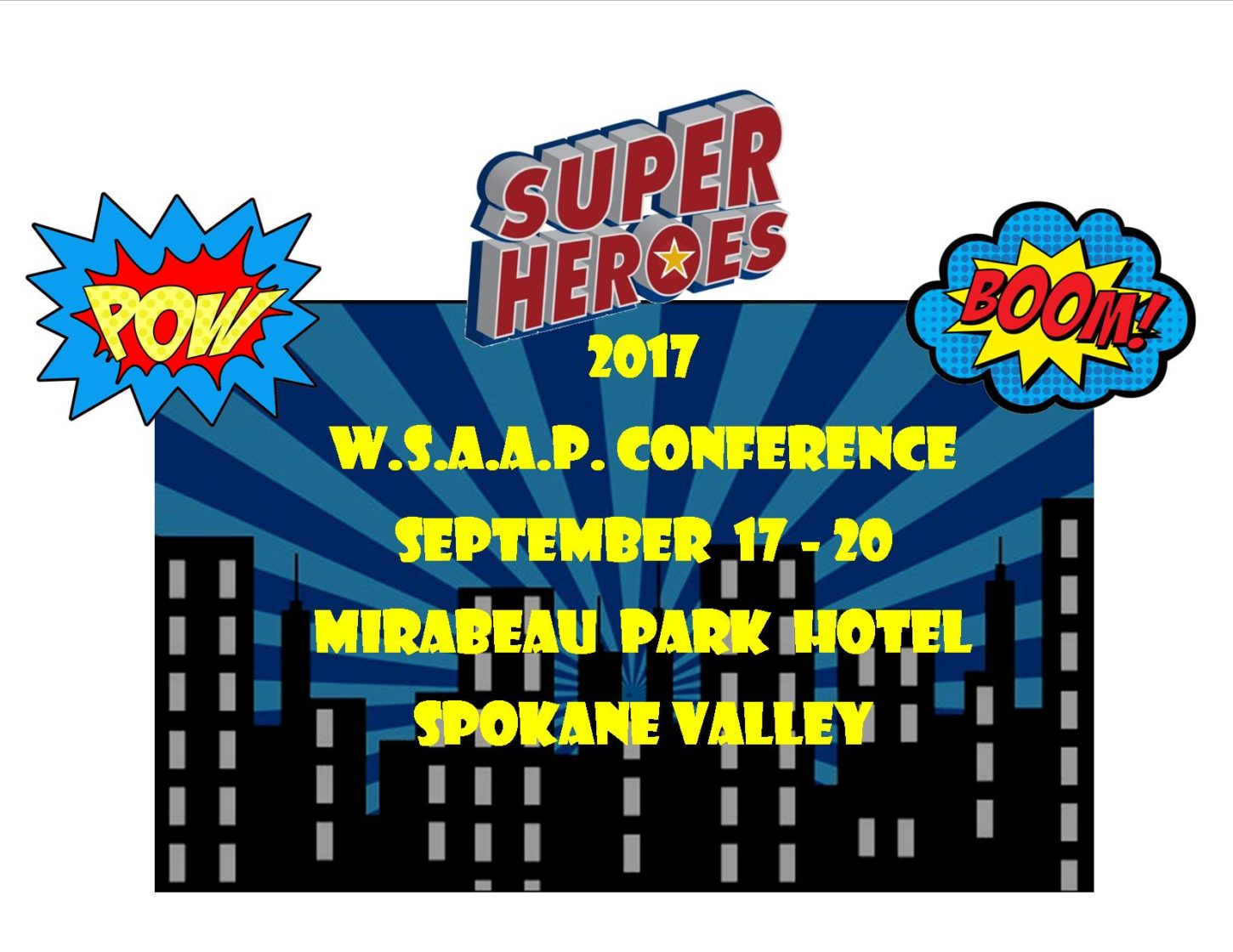2017 Conf super heroes website